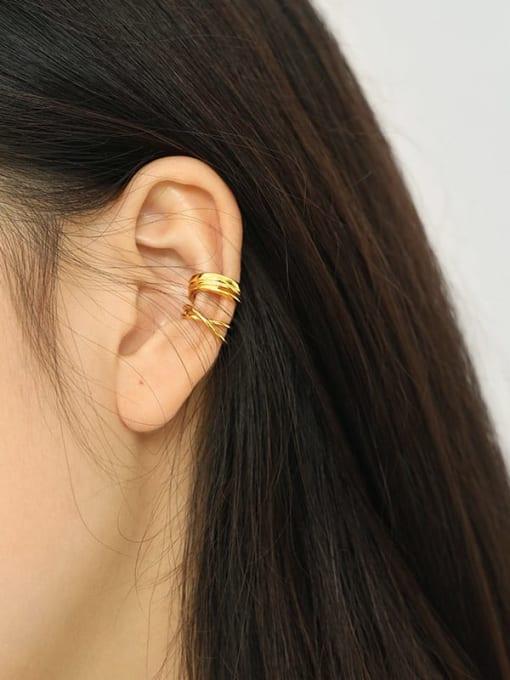 Dak Phoenix 925 Sterling Silver Irregular Minimalist Huggie Earring [Single] 2
